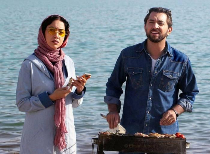 بهاره کیان افشار و بهرام رادان در فیلم زرد