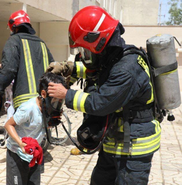 آتش سوزی بولوار اقدسیه مشهد