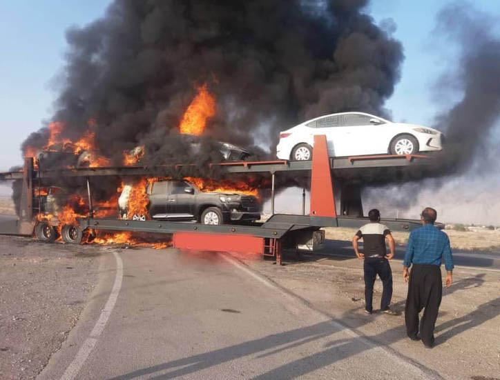 آتشسوزی خودروهای میلیاردی در بندرعباس