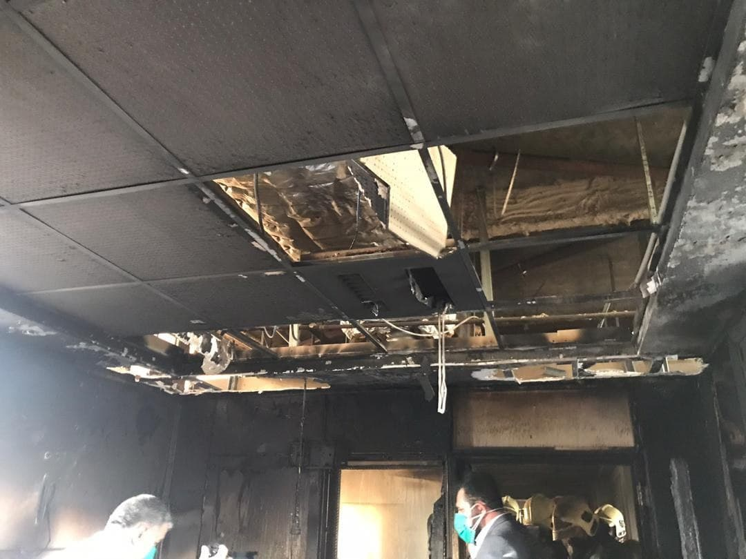 آتش سوزی بیمارستان بقیه الله (2)