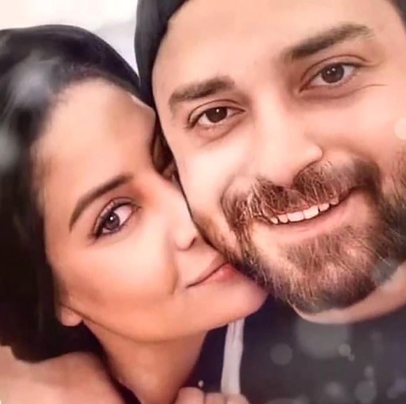 عاشقانه بابک جهانبخش و همسر دومش + عکس