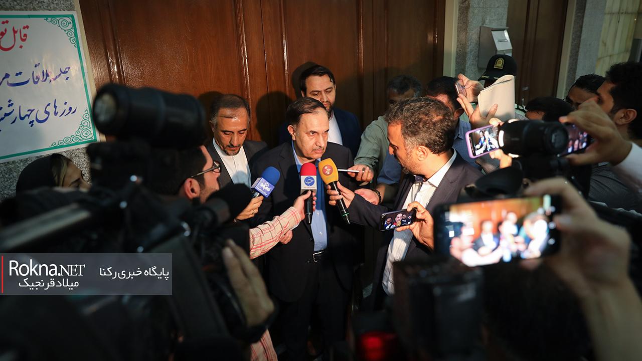 حمید گودرزی وکیل محمدعلی نجفی شهردار اسبق تهران در گفتگو با خبرنگاران