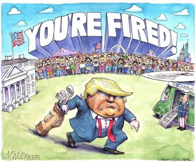 کاریکاتور ترامپ