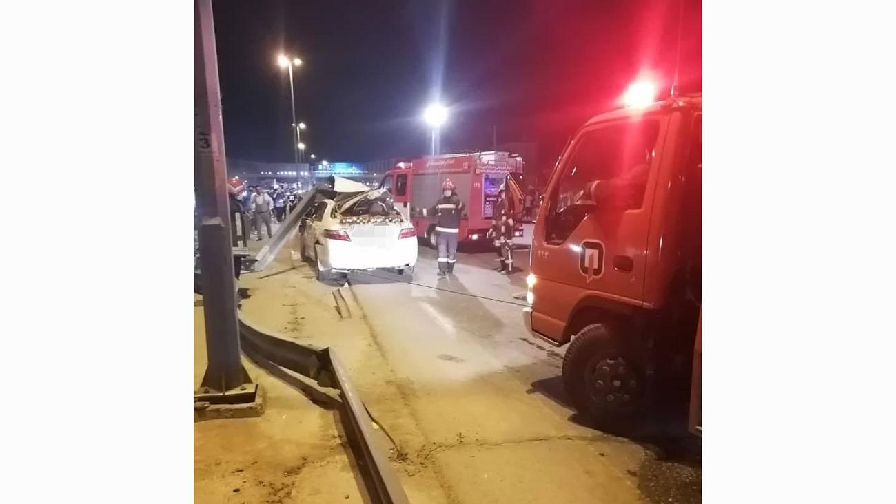 وضعیت وخیم داماد شیرازی در حادثه رانندگی