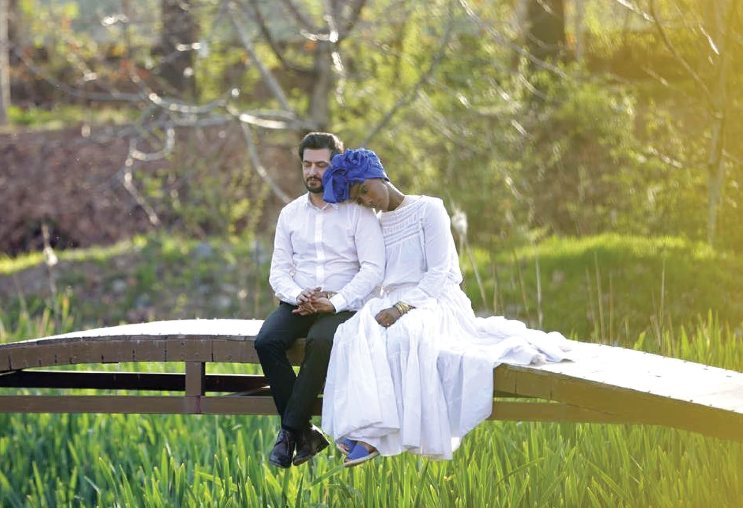 دختر ملکه افریقایی با پسر ایرانی