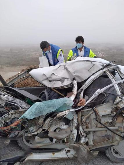 تصادف پراید و کامیون در ماهشهر