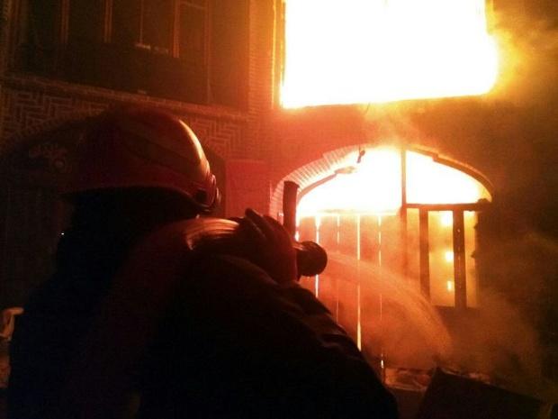 بازار تاریخی تبریز در میان شعله های آتش