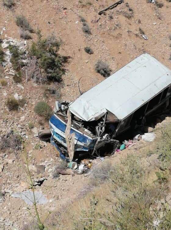 یک دستگاه مینیبوس در ساری به داخل دره سقوط کرد