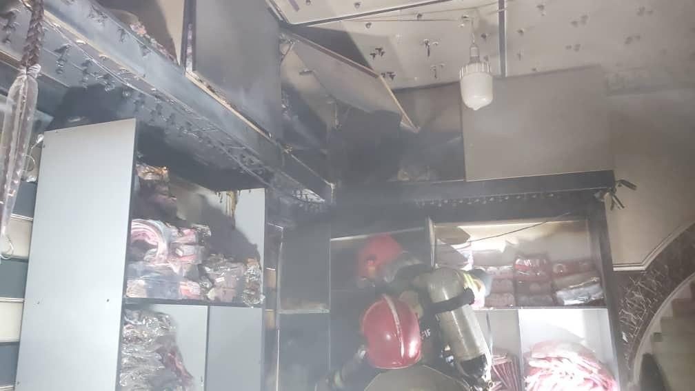 آتش سوزی در بازار