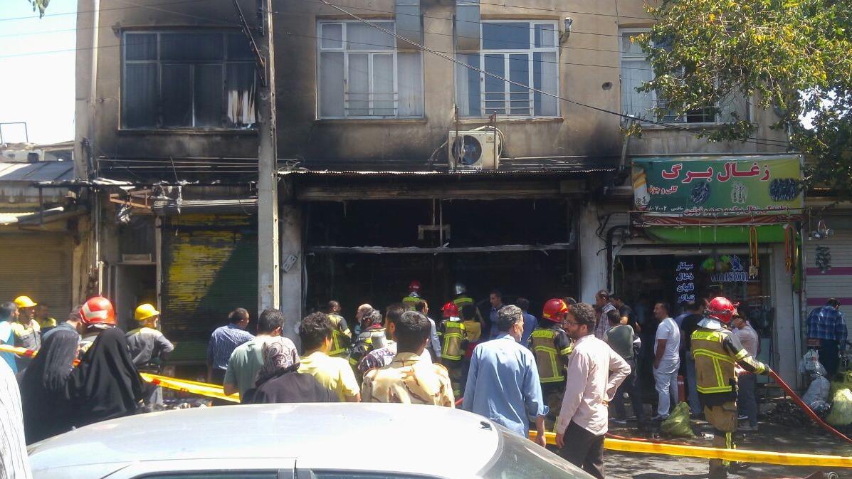 آتش سوزی در قزوین 1