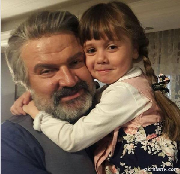 مهدی سلطانی با دخترش