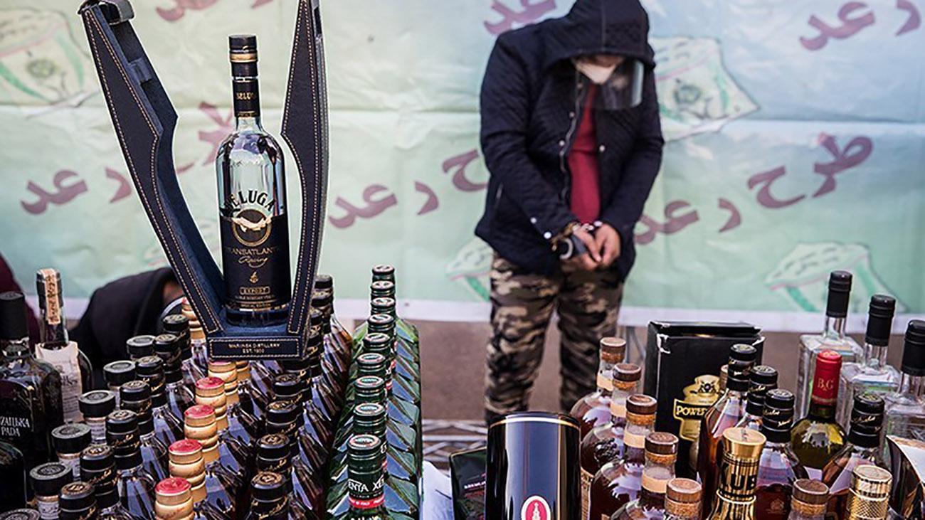 مشروبات الکلی کشف شده در تهران