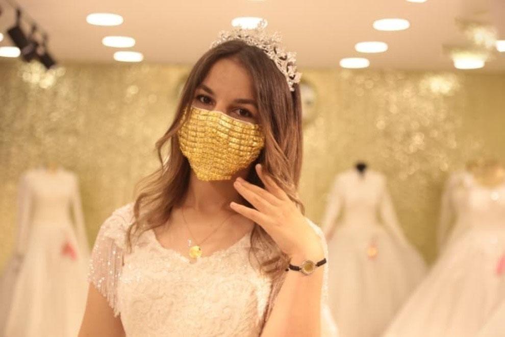 ماسک طلا عروس