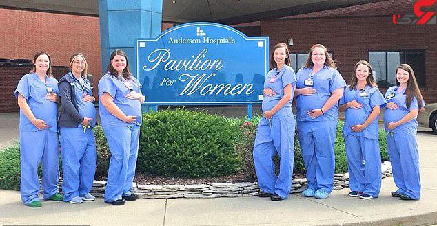 عکس بارداری همزمان 7 پرستار یک بیمارستان (3)