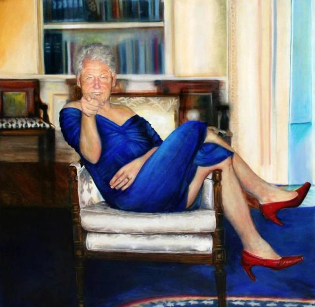 بیل کلینتون در لباس زنانه