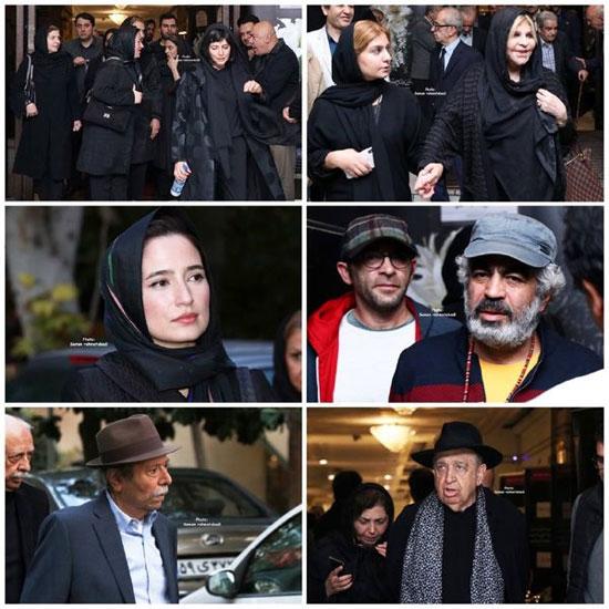 حضور نگارجواهریان در مراسم یادبود مظاهر مصفا