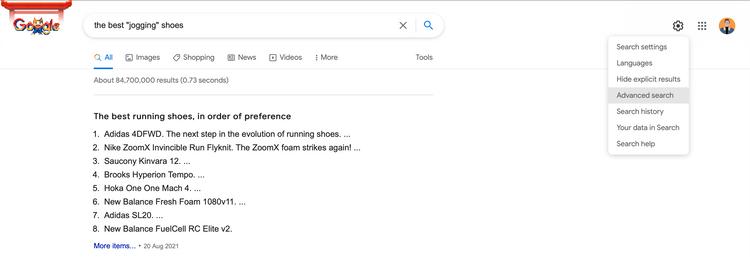 ترفندهای گوگل