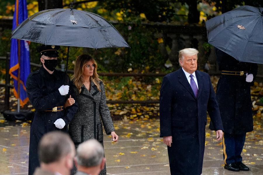 حرکت عجیب ملانیا ترامپ در یک مراسم