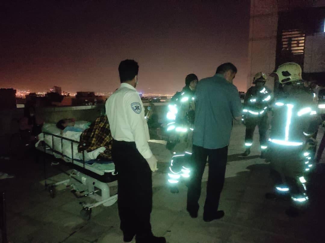 آتش سوزی بیمارستای در یوسف آباد