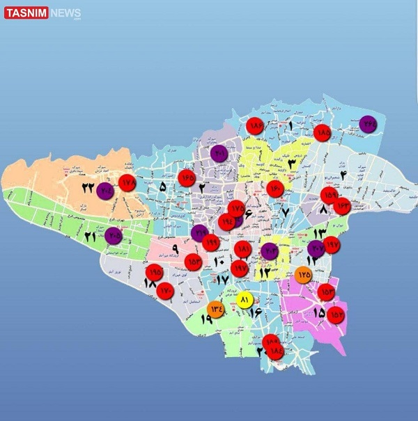 آلاینده ها در تهران