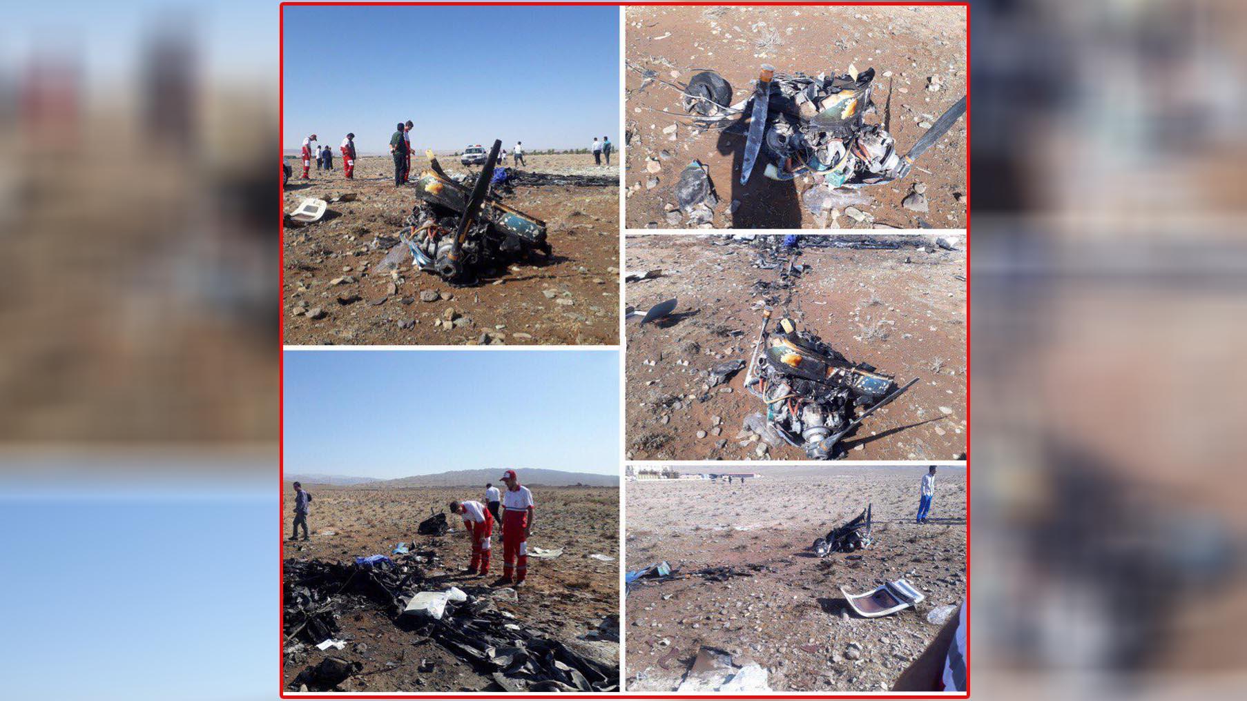 سقوط هواپیما در گرمسار