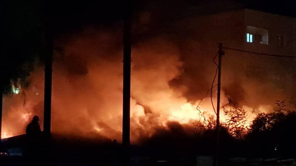 فیلم آتش سوزی صبح امروز بازار کویتیها در ماهشهر