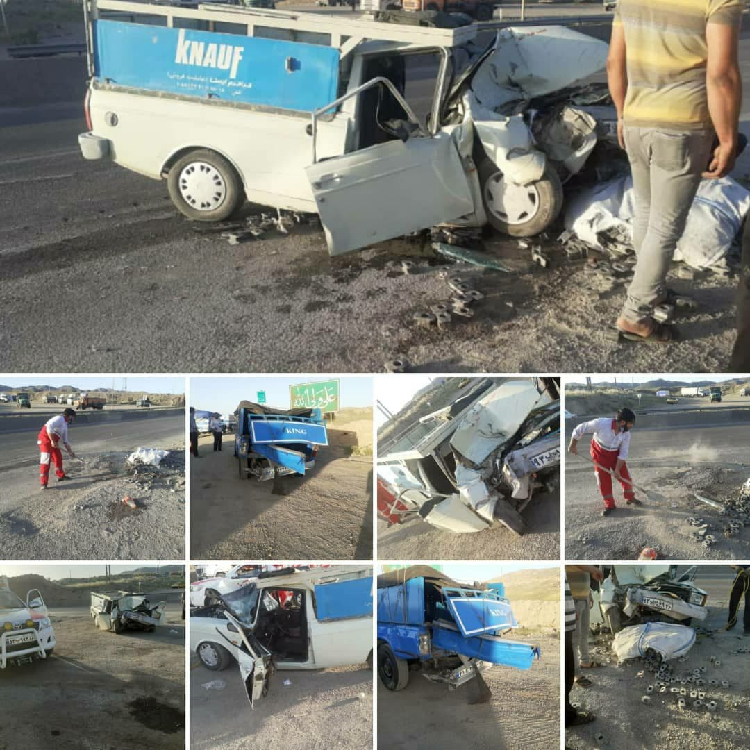 تصادف در جاده دامغان با چهار مصدوم