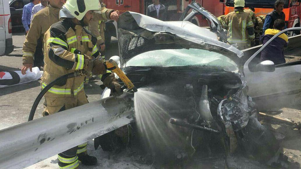تصادف مرگبار 206 در تهران