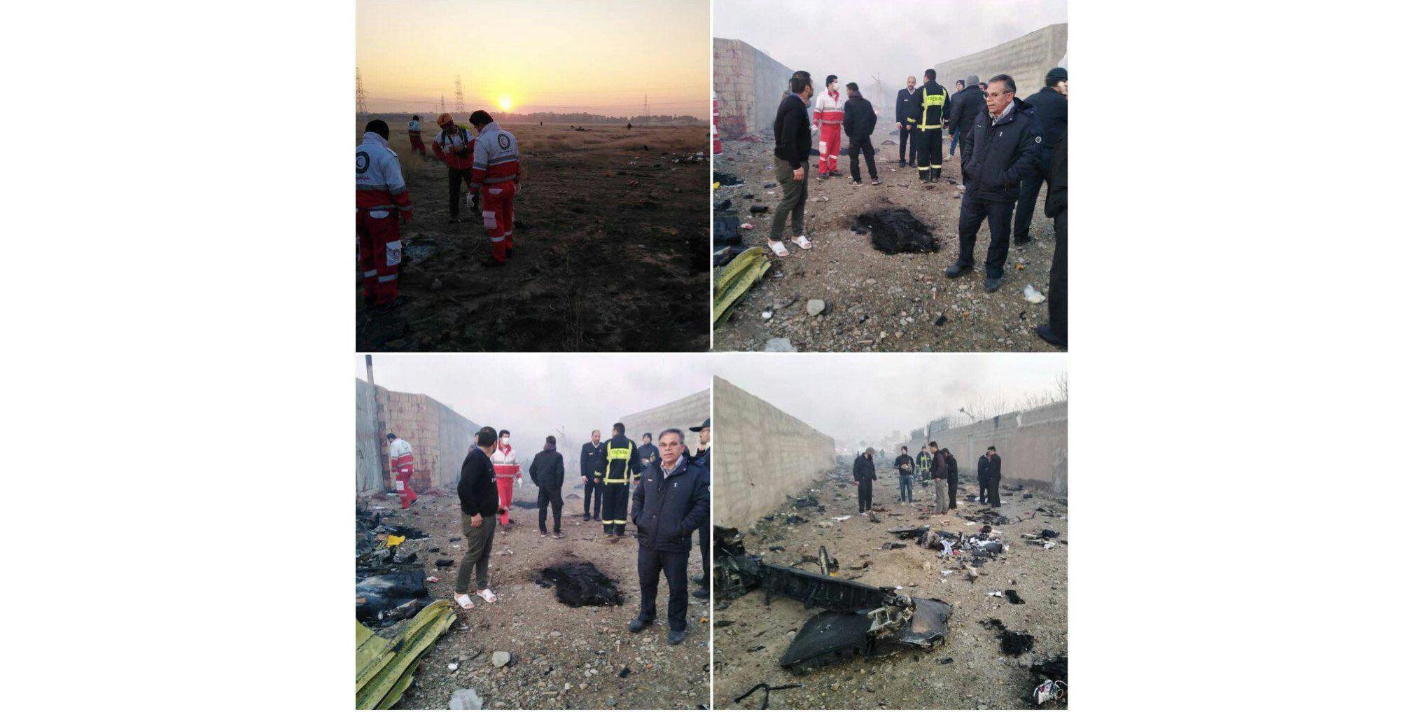 سقوط هواپیمای اوکراینی در نزدیکی فرودگاه امام تهران - پرندک