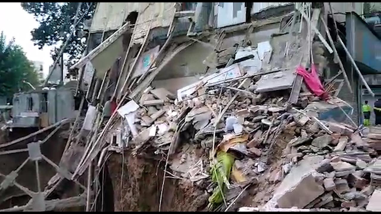 فیلم ریزش ساختمانی در فلاح