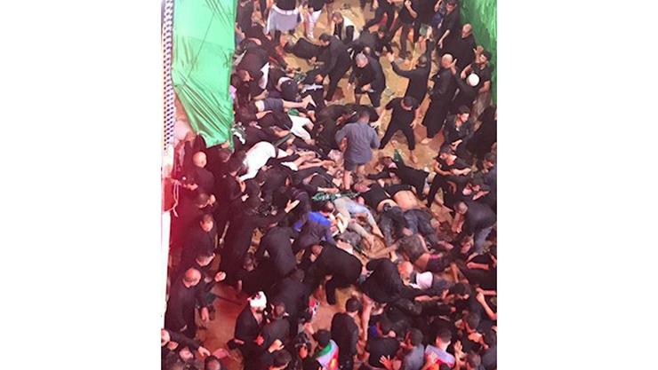 نخستین فیلم از مرگ وحشتناک ۳۱ نفر در فاجعه کربلا / ایرانی ها در میان قربانیان