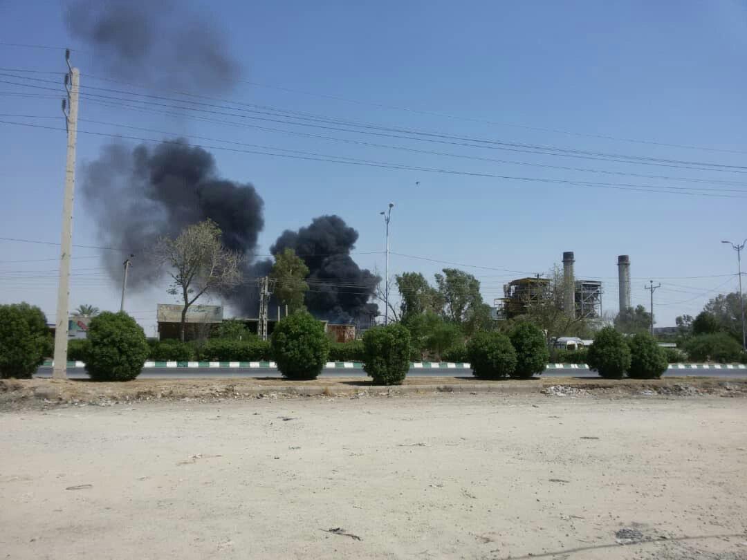 انفجار نیروگاه برق اهواز