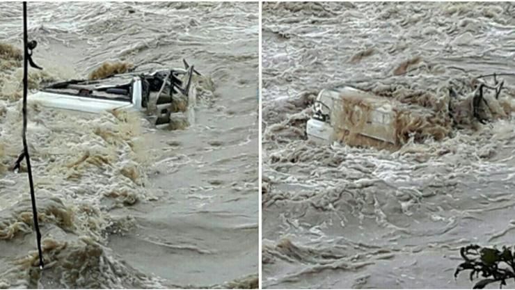 سقوط پراید به رودخانه