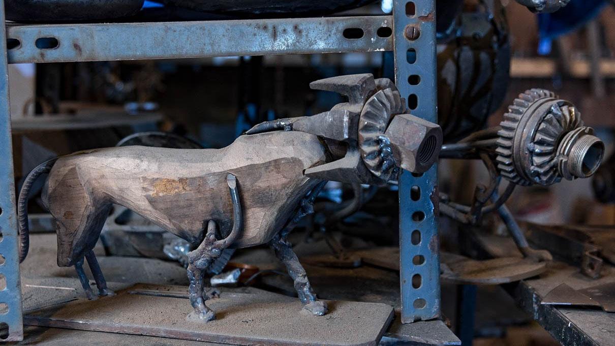 نحوه ساخت مجسمه فلزی