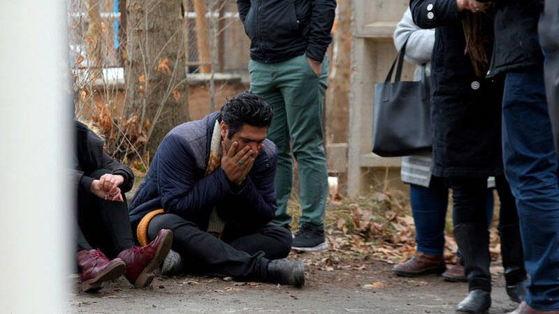 حضور خانواده قربانیان حادثه سقوط هواپیما