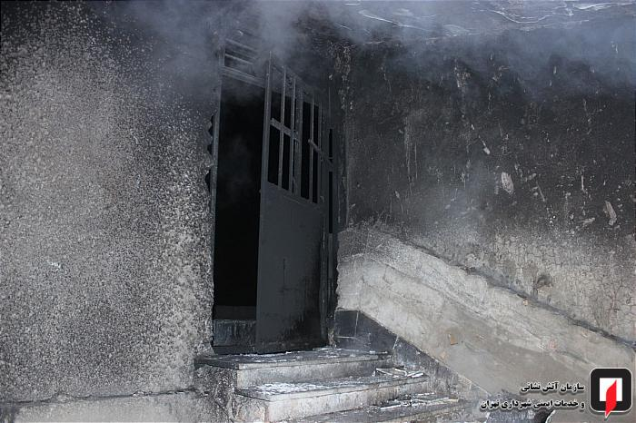 آتش اتاقک نگهبانی در مجتمع صنعتی