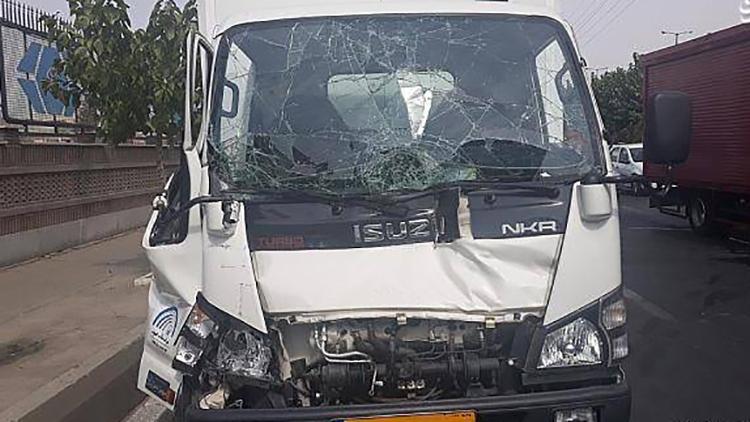 تصادف خونین دو کامیون در بزرگراه فتح+عکس