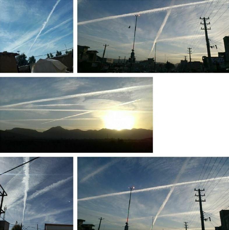 ماجرای خطوط عجیب در آسمان ایران چه بود