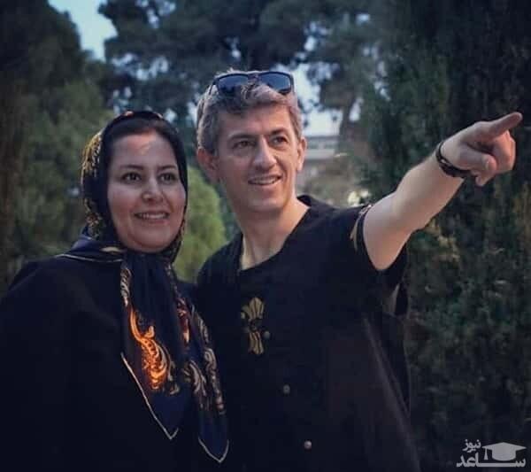 سیروس همتی و همسرش