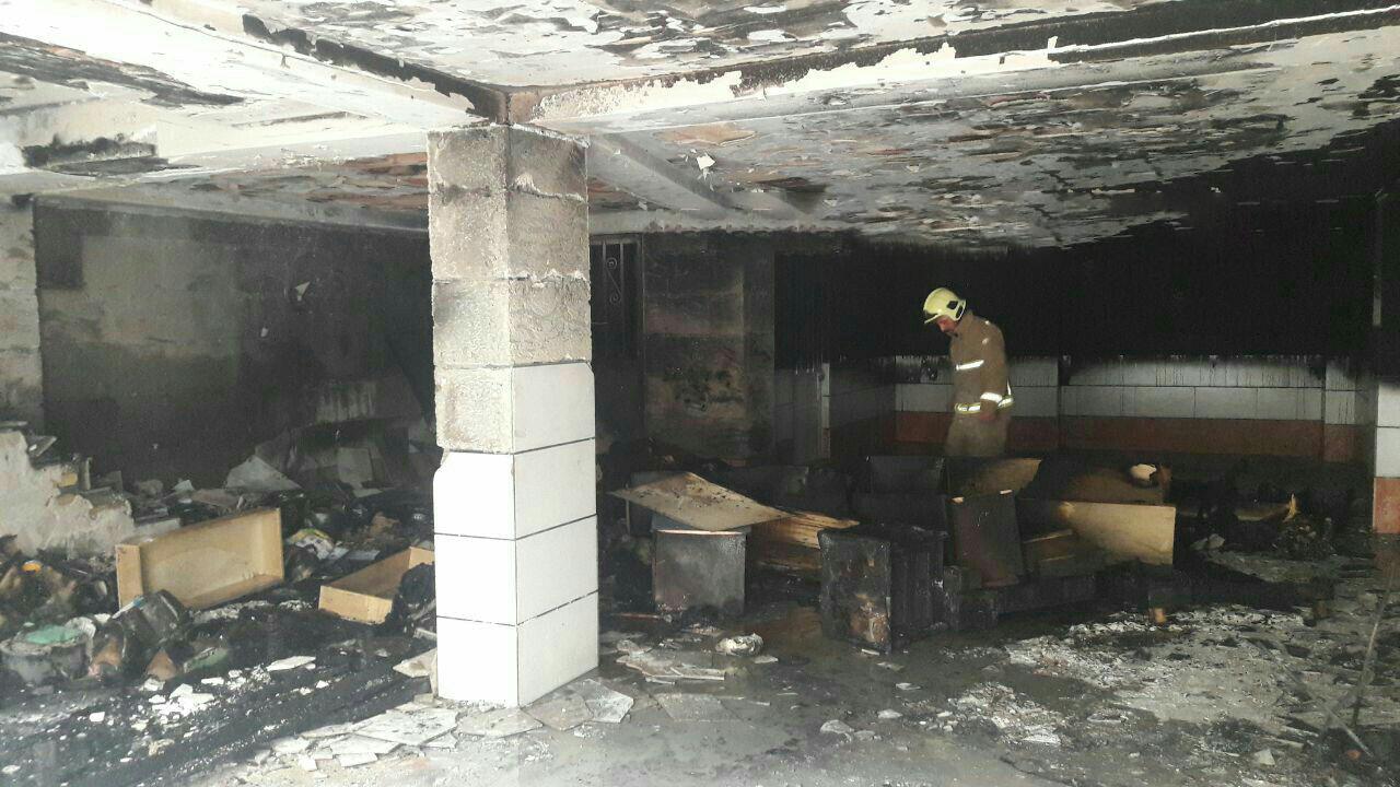 آتش سوزی ساختمان مسکونی