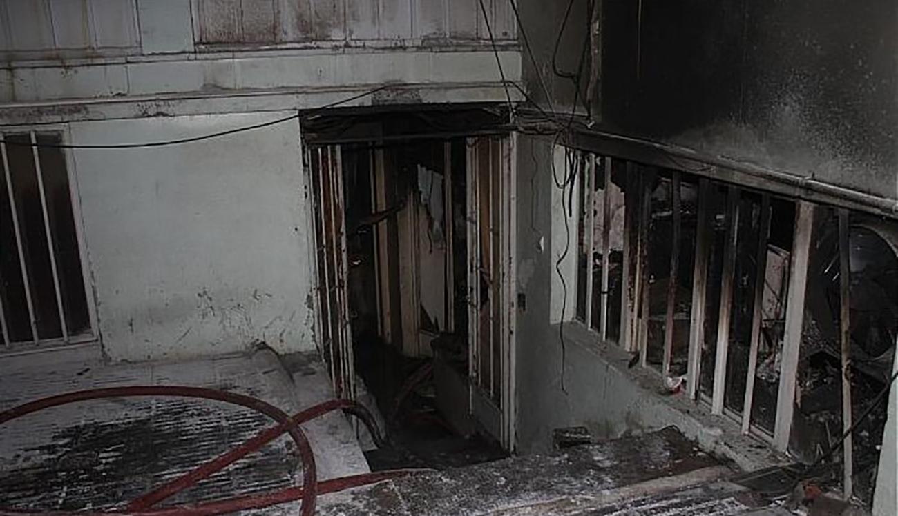 آتش سوزی در کارگاه کفش