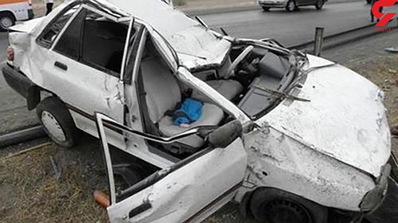 تصادف زنجیره ای در زنجان / 2 زن و 5 مرد راهی بیمارستان شدند
