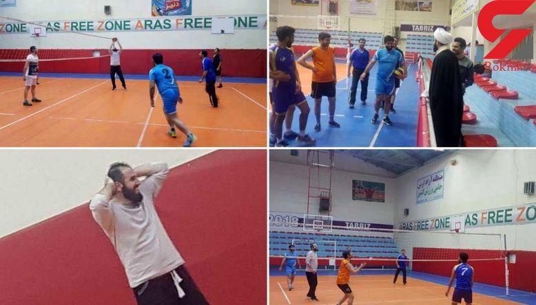 والیبال بازی کردن امام جمعه جلفا! + عکس