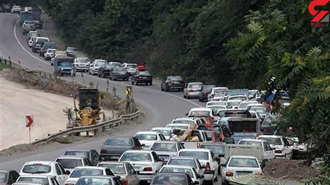 ترافیک در هراز و کندوان سنگین شد