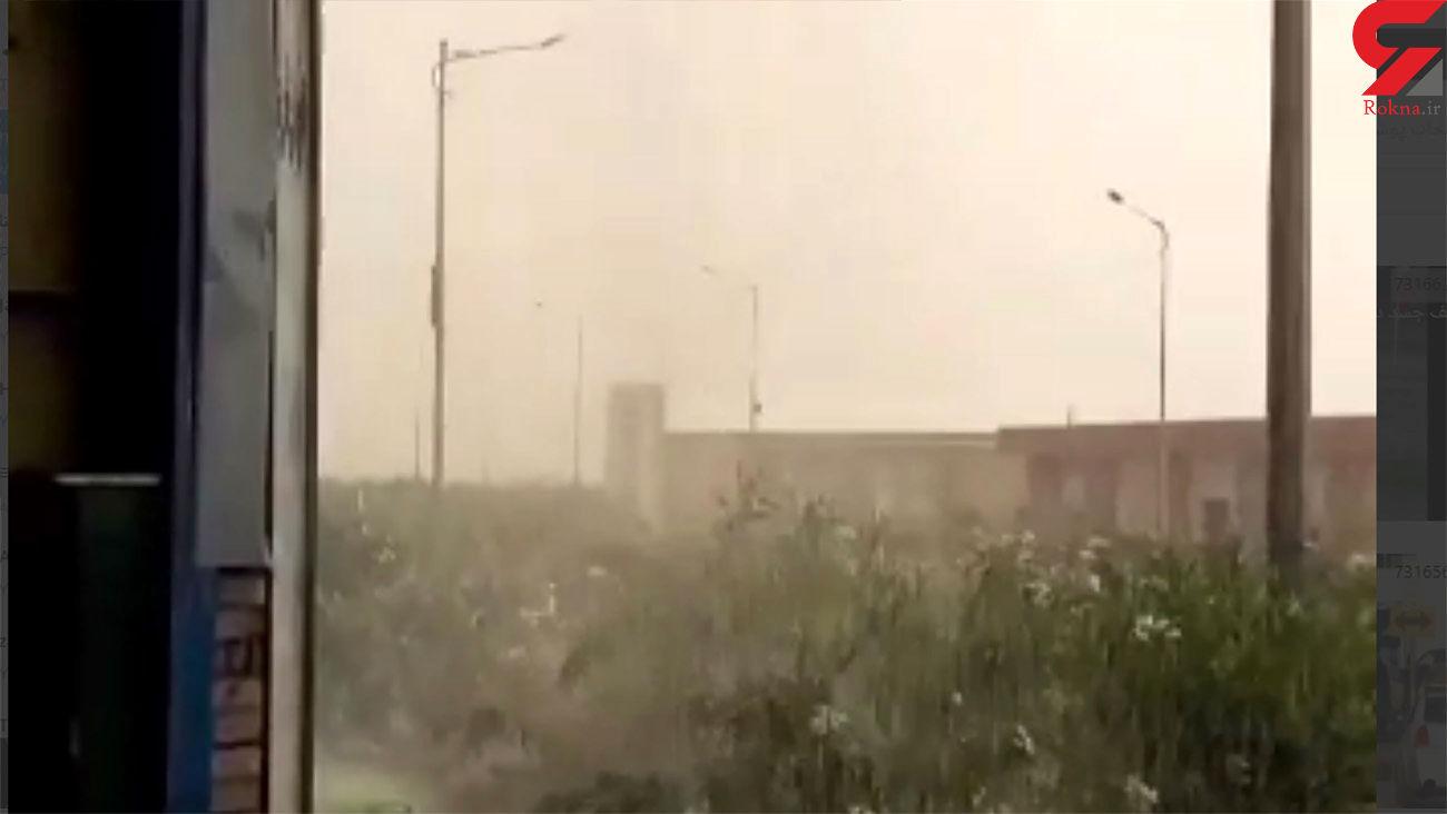 فیلم بارش عجیب باران در سمنان / روز گذشته رخ داد