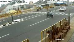 مرگ تلخ موتورسوار در تصادف + فیلم