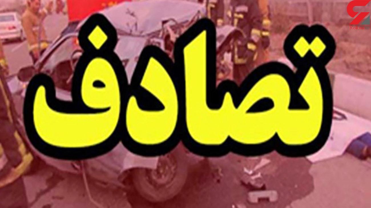 تصادف مرگبار 2 خودرو در زنجان / یک کشته و 3 زخمی