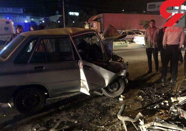تصادف زنجیره ای ۵ خودرو در تبریز