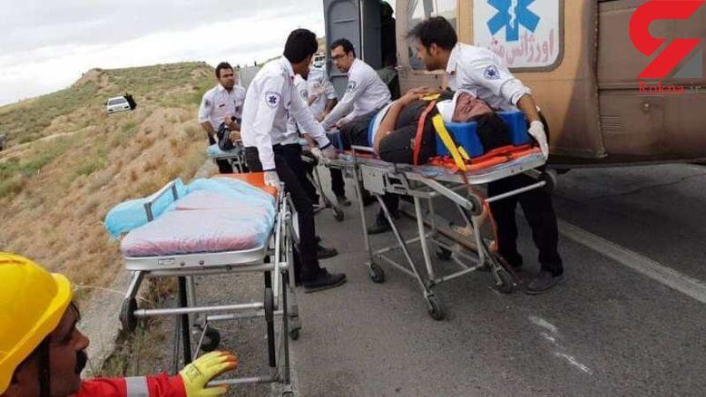 تصادف مرگبار آمبولانس در جاده شهر کرد + یک کشته 8 مصدوم برجای ماند