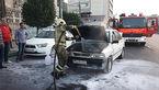 آتش سوزی پراید در خیابان دماوند + عکس ها